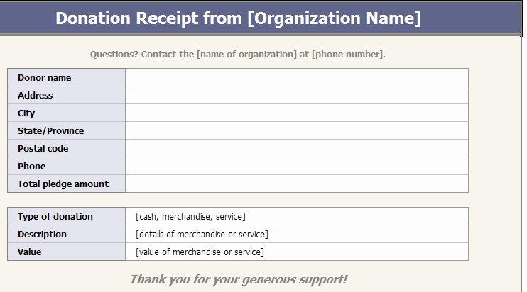 Non Profit Receipt Template New 501c3 Donation Receipt