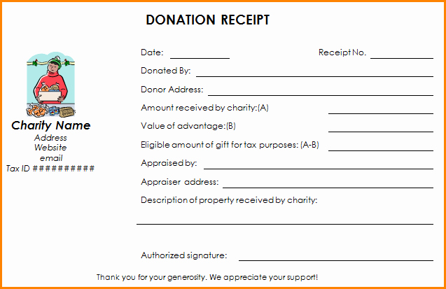 Non Profit Receipt Template Unique 7 501c3 Donation Receipt Template