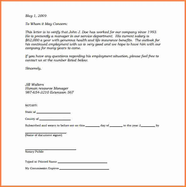 Notarized Letter Template Word Beautiful 8 Notarized Statement