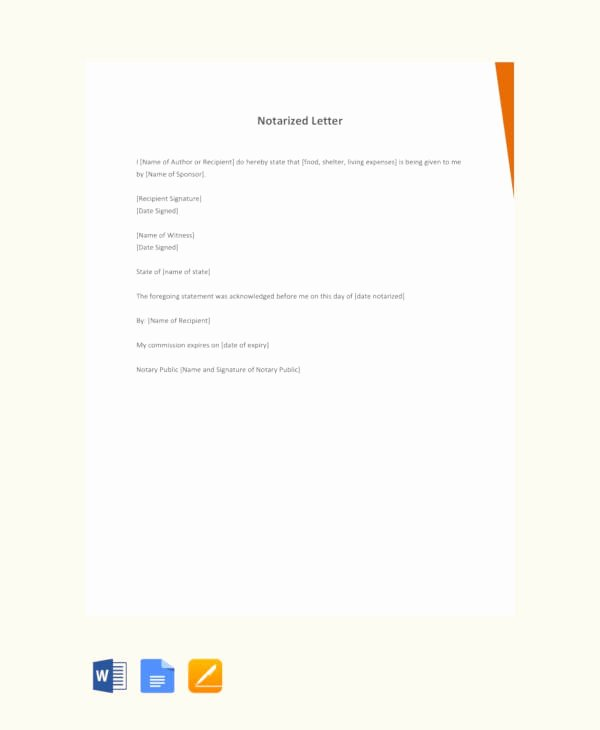 Notarized Letter Template Word Fresh 10 Sample Notarized Letters Pdf Word