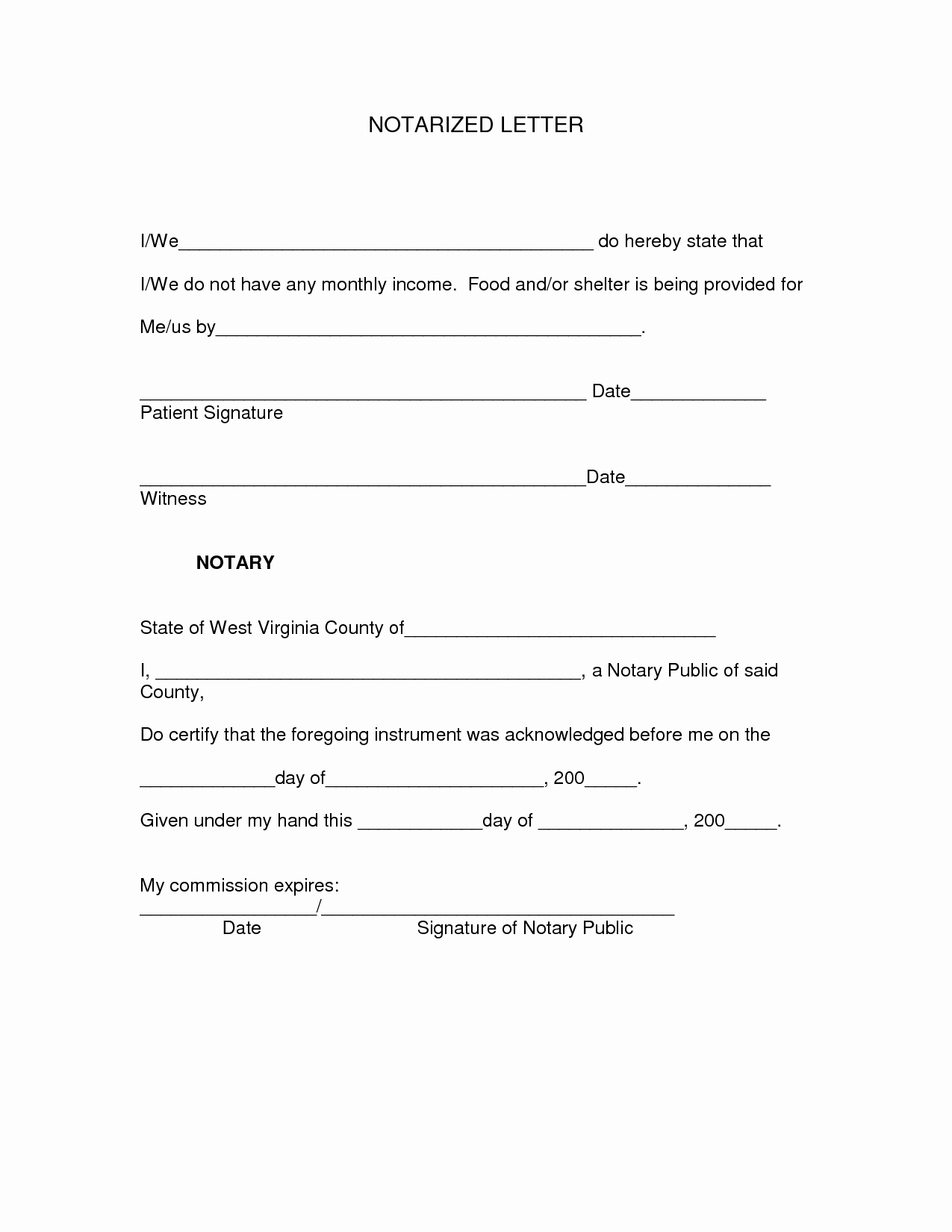 Notarized Letter Template Word Fresh Word Template Category Page 2 Urlspark