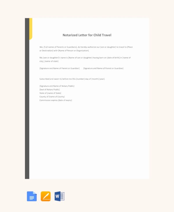 Notarized Letter Template Word Inspirational 10 Sample Notarized Letters Pdf Word