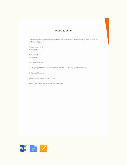 Notarized Letter Template Word Inspirational How to Write A Personal Letter with Examples