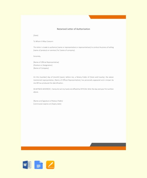 Notarized Letter Template Word Luxury 10 Sample Notarized Letters Pdf Word