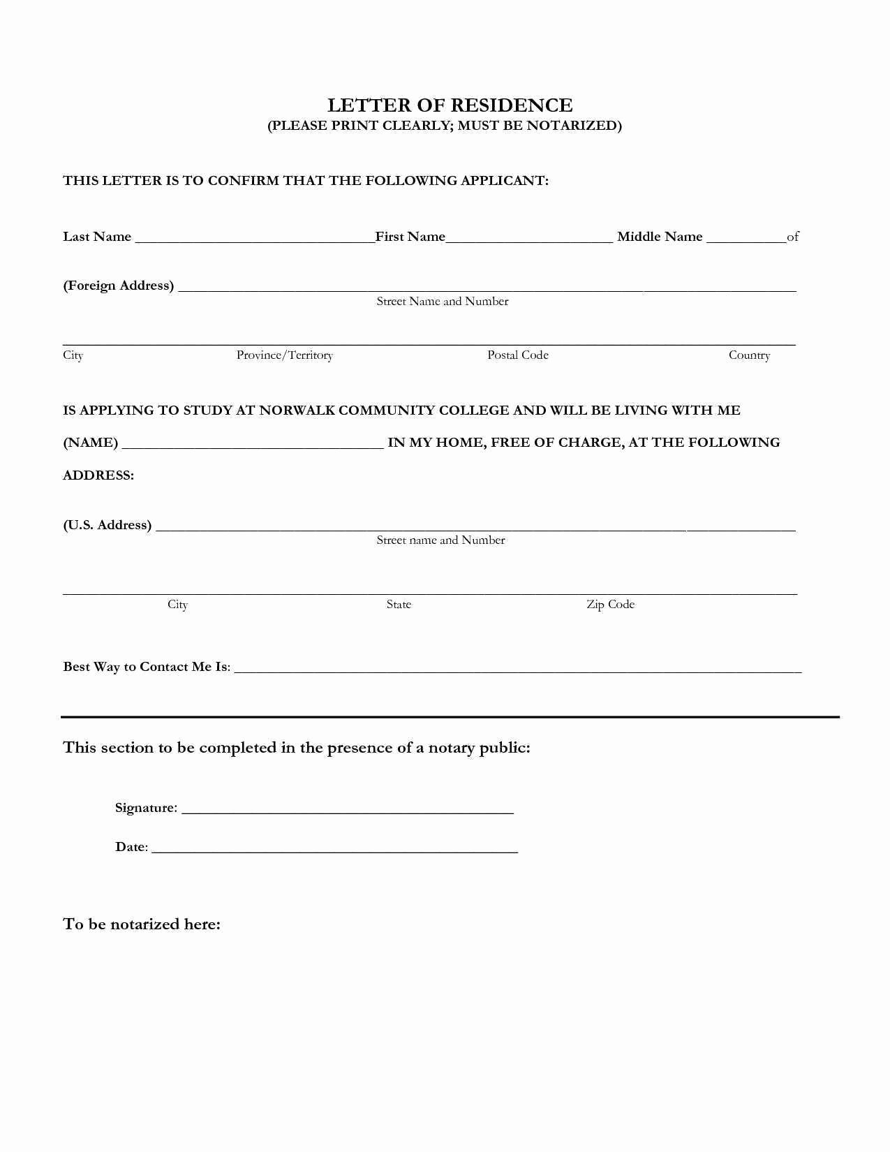Notarized Letter Template Word Unique 55 Collection Notary Letter Template – Letter Templates