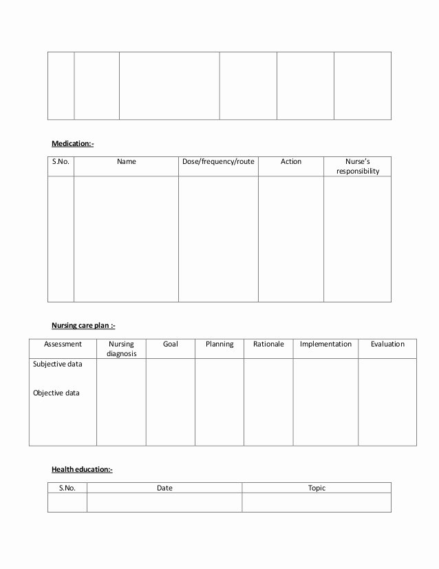 Nursing Care Plan Template Awesome 27 Of Family Nursing Care Plan Template