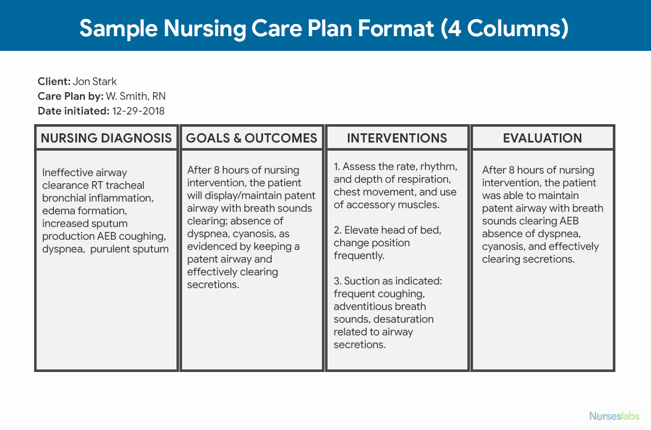 Nursing Care Plan Template Best Of Nursing Care Plan Ncp Ultimate Guide and Database