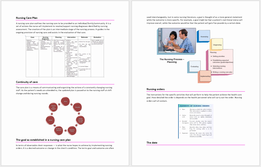 Nursing Care Plan Template Best Of Nursing Care Plan Template – Word Templates for Free Download