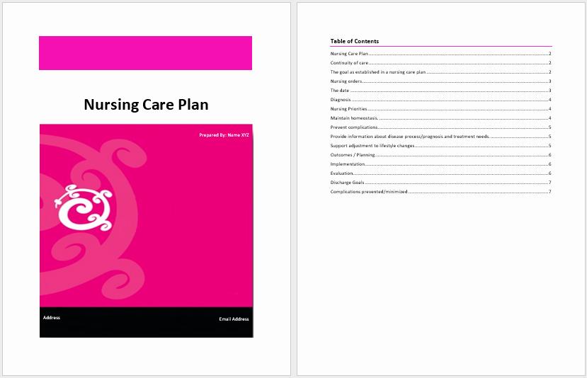 Nursing Care Plan Template Fresh Nursing Care Plan Template – Word Templates for Free Download