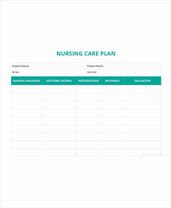 Nursing Care Plan Template Inspirational 12 Patient Care Plan Templates Pdf Doc