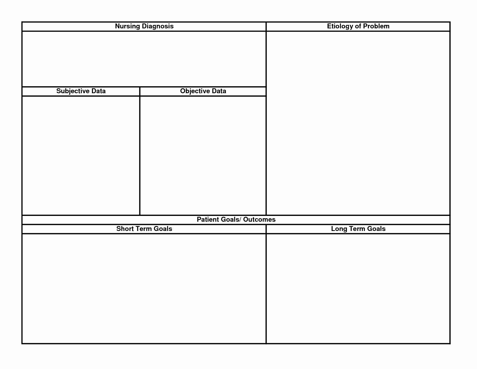 Nursing Care Plan Template New 15 Best Of Printable Nursing Worksheets Printable