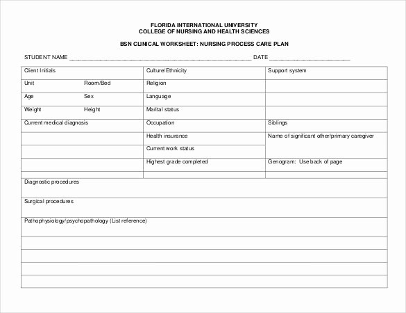 Nursing Care Plans Template Inspirational Nursing Care Plan Template 20 Free Word Excel Pdf