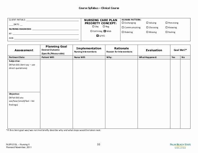 Nursing Care Plans Template Unique Blank Nursing Care Plan Templates Google Search