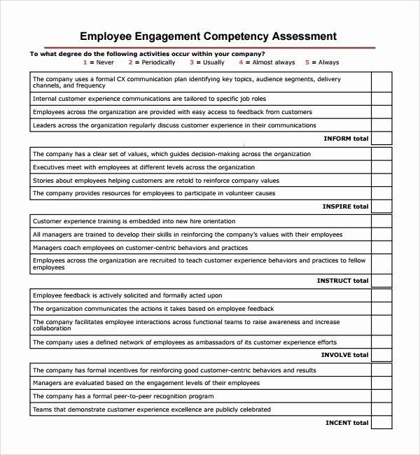 Nursing Competency assessment Template Elegant Sample Petency assessment Template 9 Free Documents