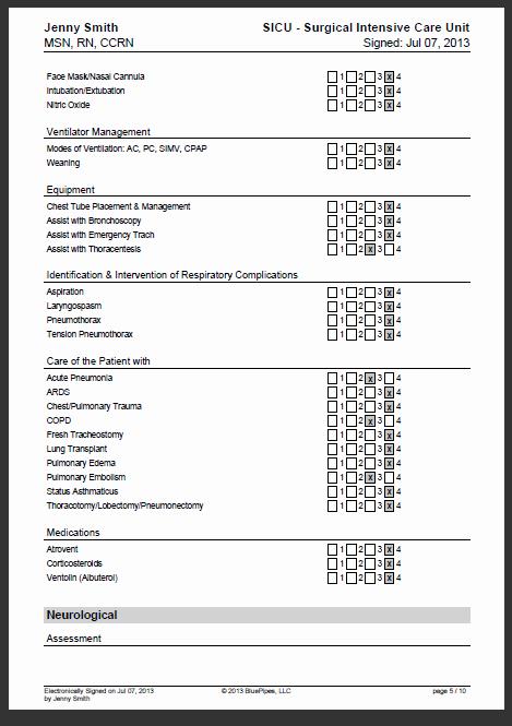 Nursing Competency assessment Template Luxury Sample Nursing Skills Checklist Nurse Cori