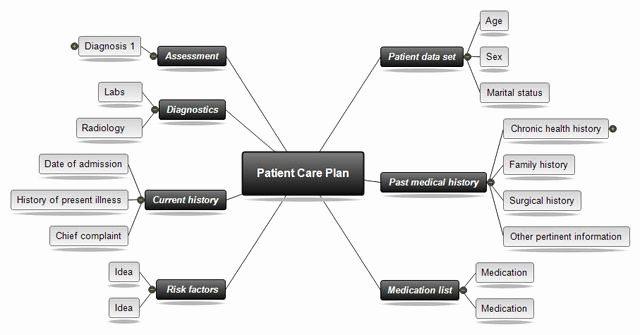 Nursing Concept Map Template Luxury Concept Mapping software for Nursing