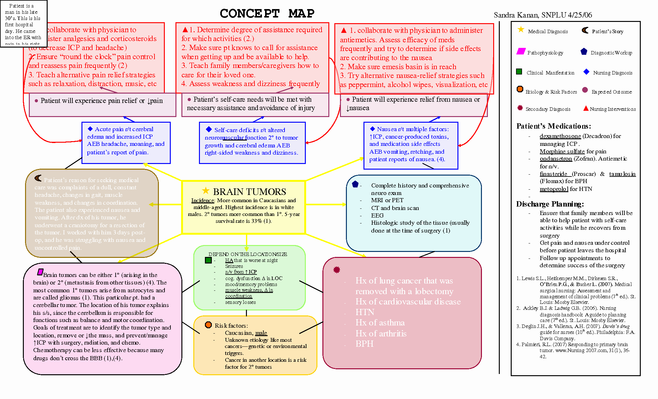 Nursing Concept Map Template Luxury Scope Of Work Template Nursing