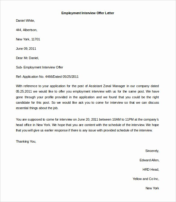 Offer Letter Template Word Beautiful 11 Free Employment Letter Template Doc Pdf