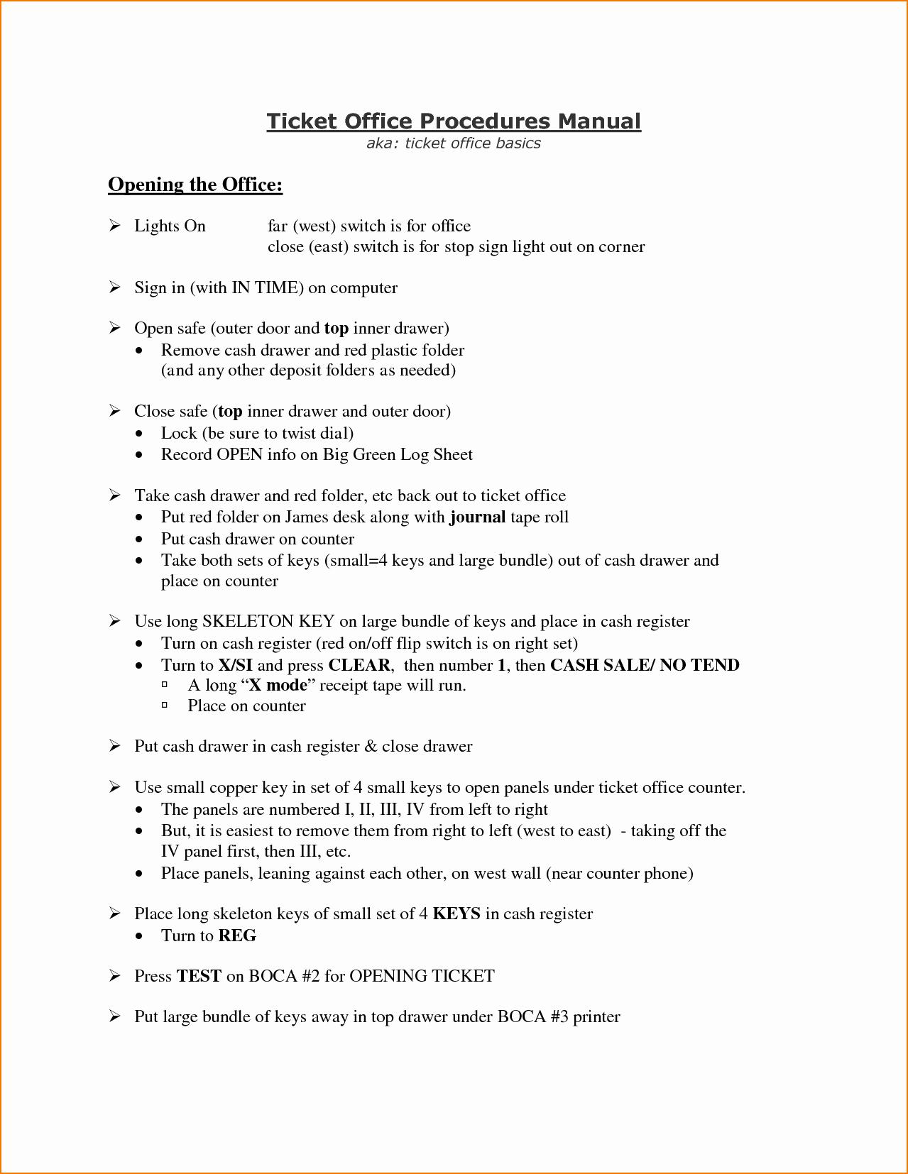 Office Procedures Manual Template Unique 4 Procedure Manual Template