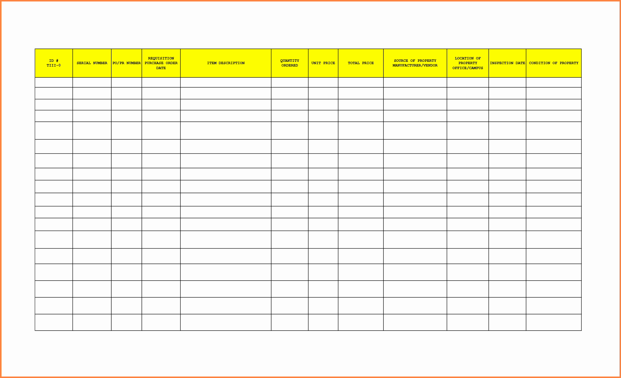 Office Supply Inventory List Template New 8 Office Supplies Inventory Spreadsheet