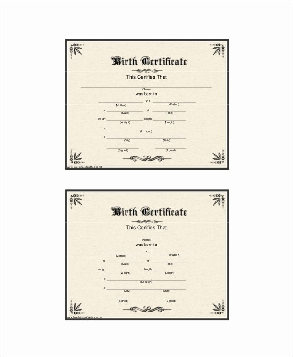 Official Birth Certificate Template Beautiful Sample Birth Certificate 12 Documents In Word Pdf
