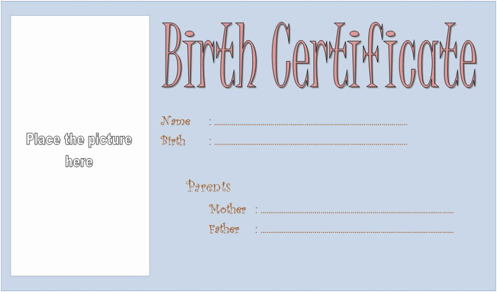 Official Birth Certificate Template Lovely Dog Birth Certificate Template Editable [9 Designs Free]