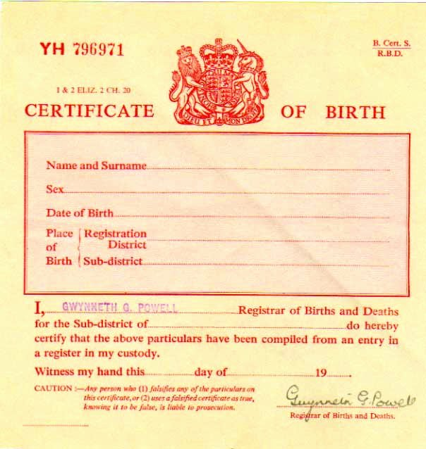 Official Birth Certificate Template New Birth Certificate Uk