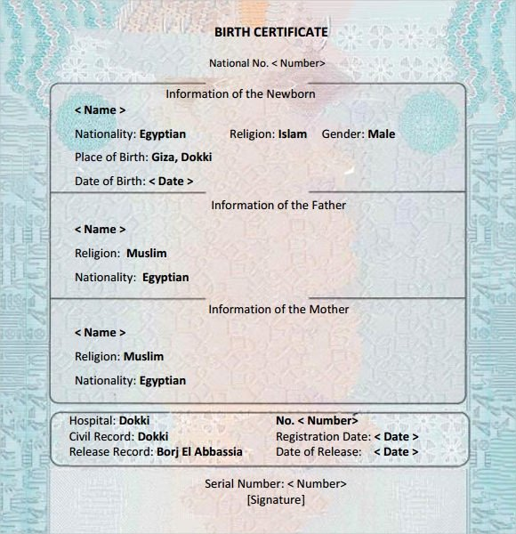 Official Birth Certificate Templates Best Of Free 12 Birth Certificate Templates In Free Examples