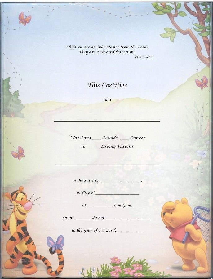 Official Birth Certificate Templates Fresh Blank Certificate Templates Kiddo Shelter