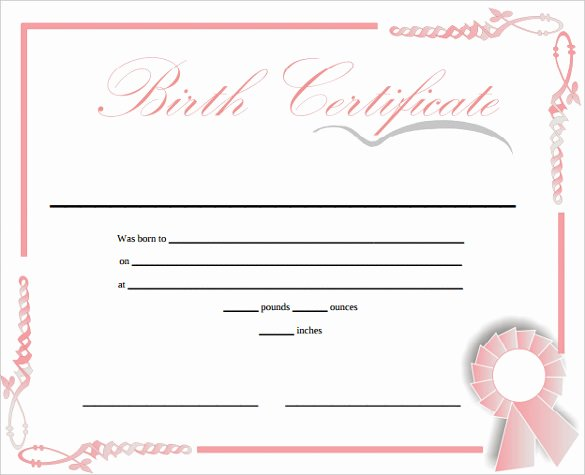 Official Birth Certificate Templates New Birth Certificate Templates