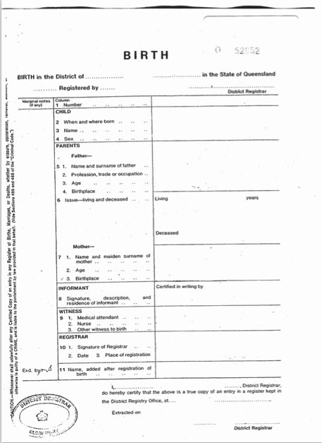 Official Birth Certificate Templates New Ficial Birth Certificate Template Free Download Aashe