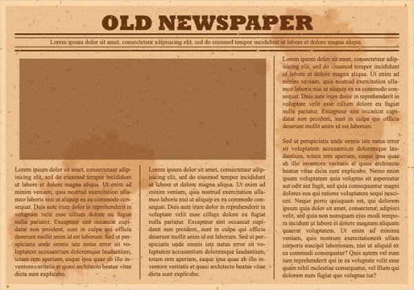 Old Newspaper Template for Word Awesome 52 Printable Newspaper Templates Psd Apple Pages