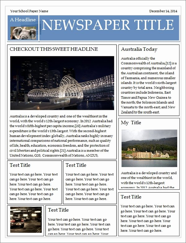 Old Newspaper Template for Word Awesome Free 53 Amazing Newspaper Templates In Pdf Ppt Word
