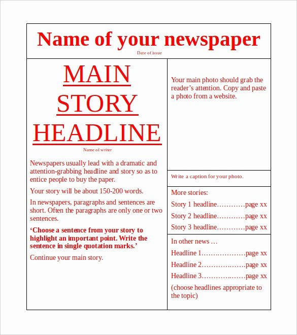 Old Newspaper Template for Word Beautiful 18 News Paper Templates Word Pdf Psd Ppt