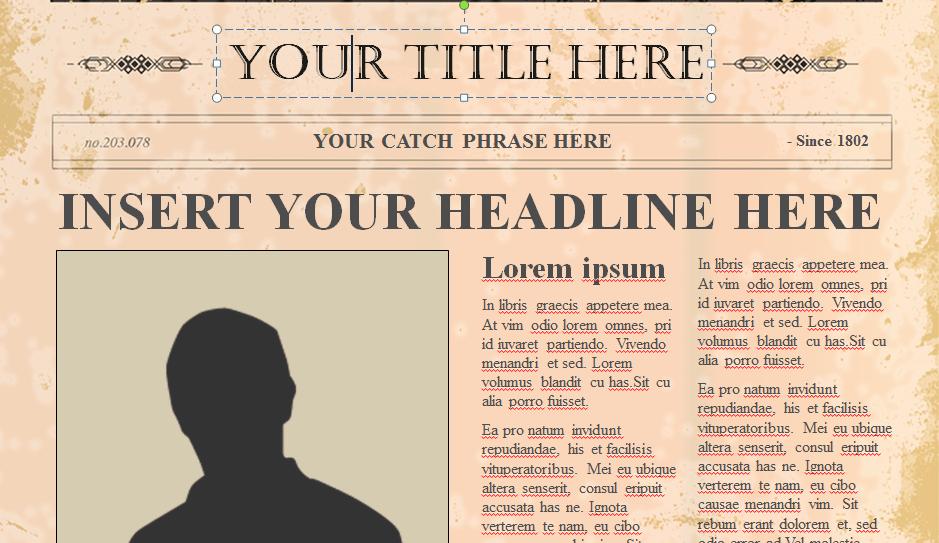 Old Newspaper Template for Word Elegant Mattie Wuckert – Dlword