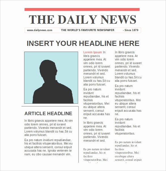 Old Newspaper Template for Word Elegant Newspaper Article Template