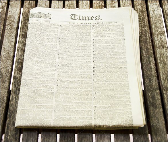 Old Newspaper Template for Word Elegant Sample Old Newspaper Template 11 Documents In Pdf Psd