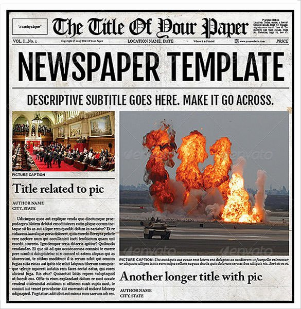 Old Newspaper Template for Word Lovely Sample Old Newspaper Template 11 Documents In Pdf Psd