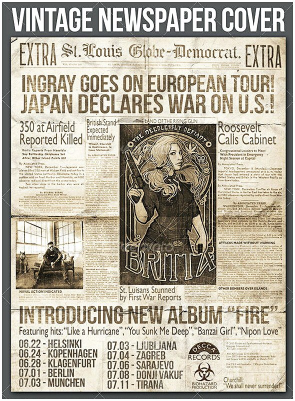 Old Newspaper Template for Word Luxury Old Newspaper Template Word