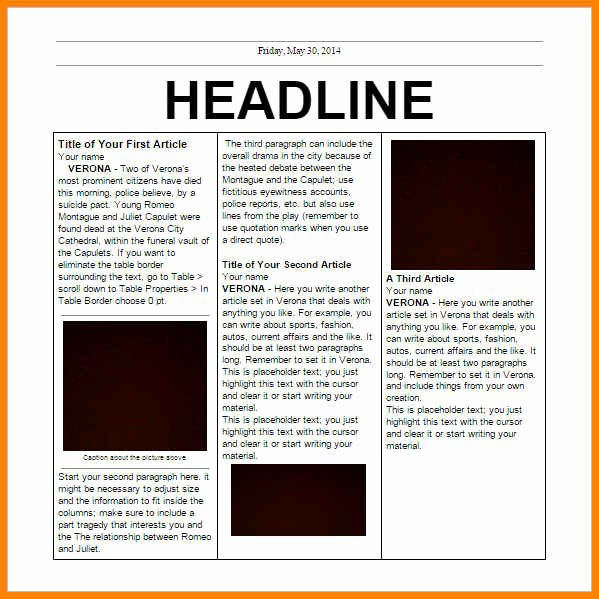 Old Newspaper Template for Word Unique 6 Editorial Template for Microsoft Word