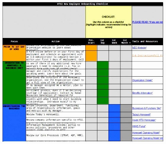 Onboarding Checklist Template Excel Awesome 9 Boarding Plan Templates Eotha