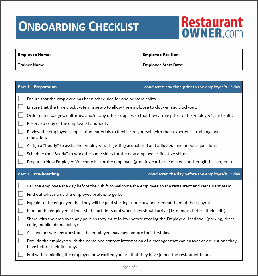 Onboarding Checklist Template Excel Beautiful Employee Boarding Checklist