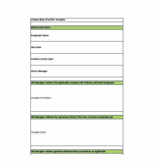 Onboarding Checklist Template Excel Lovely Onboarding Document Template