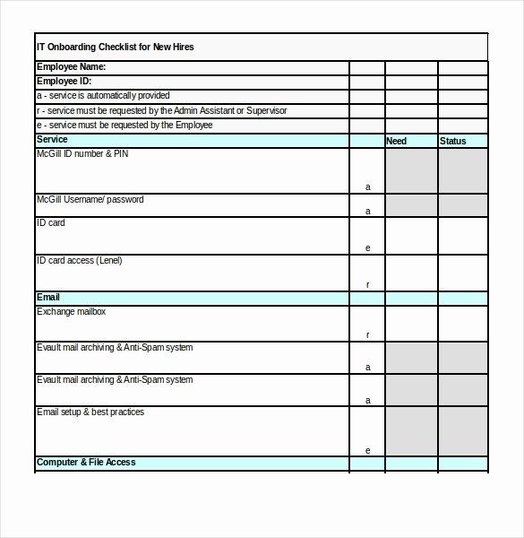 Onboarding Checklist Template Excel Luxury Boarding Checklist Template 17 Free Word Excel Pdf