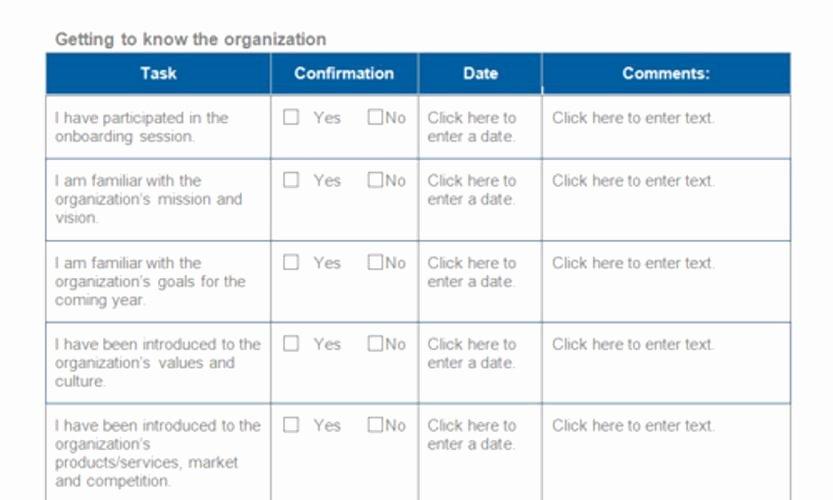 Onboarding Checklist Template Excel New Employee Boarding Checklist – Emmamcintyrephotography