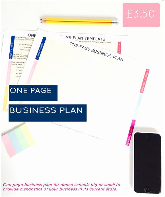 One Page Business Plan Template Best Of Free 21 Simple Business Plan Templates In Pdf Word
