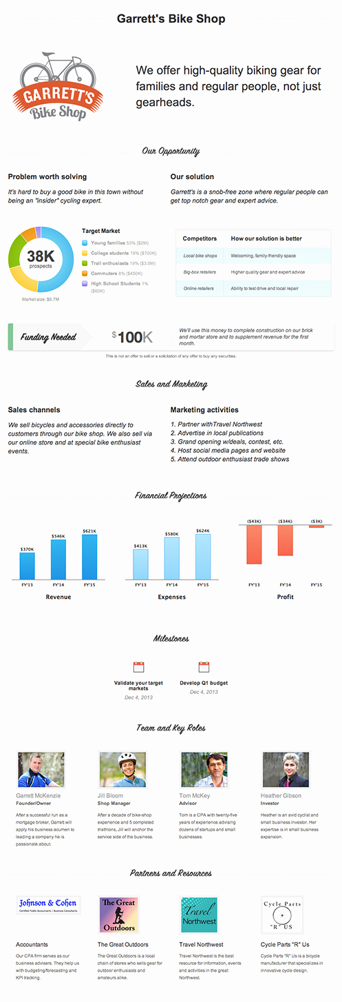 One Page Business Plan Template Elegant 7 Insanely Creative Business Plan Templates – the Mission