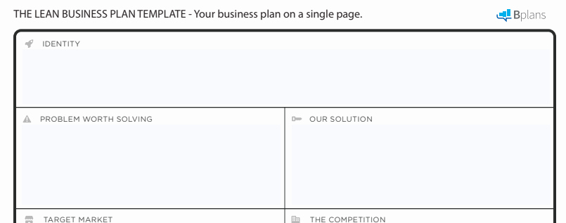 One Page Business Plan Template New How to Write A E Page Business Plan Templates Ideas