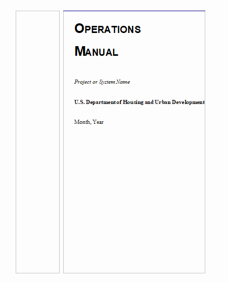 Operations Manual Template Free Beautiful Operations Manual Templates
