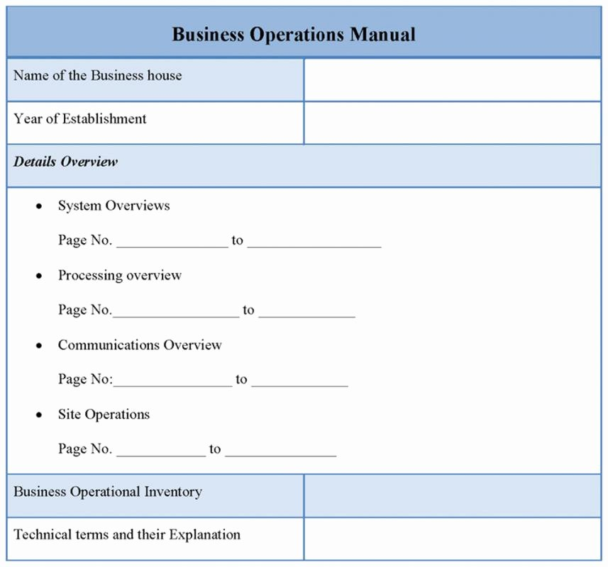 Operations Manual Template Free Elegant Operational Manual Template